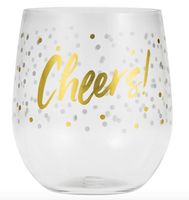 Cheers Stemless Wine Glass Set of Four
