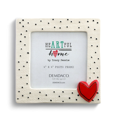 Small Dots with Heart Frames