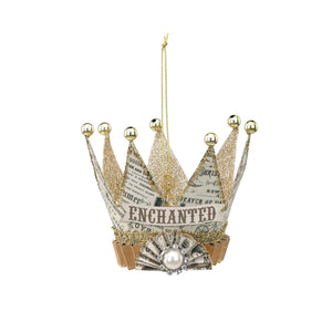 Newsprint Crown Ornament