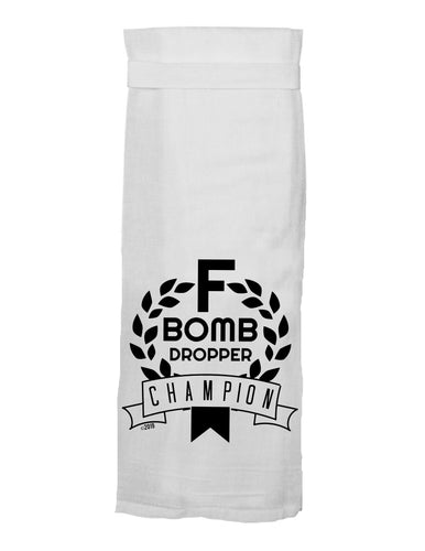 F Bomb Dropper Flour Sack Towel