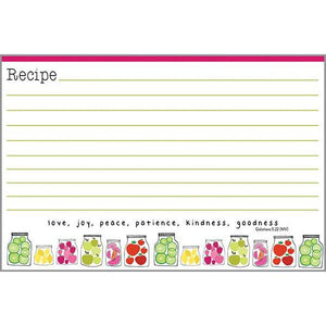 Recipe Cards Cute Jars