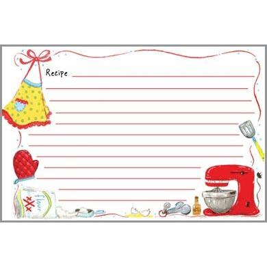 Recipe Cards Red Mixer