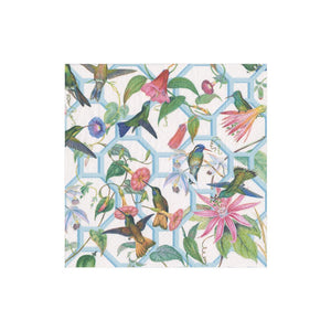 Hummingbird Trellis Boxed Cocktail Napkins