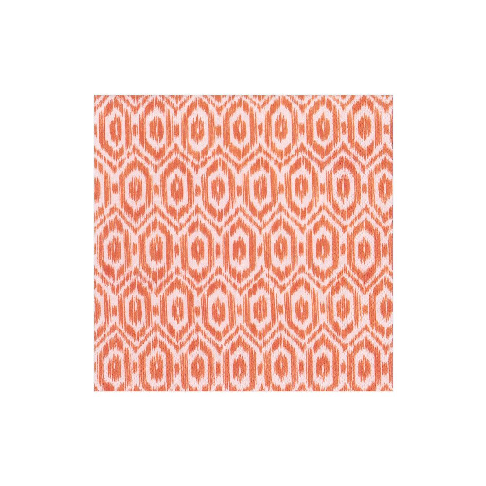 Amala Ikat Orange Boxed Cocktail Napkins