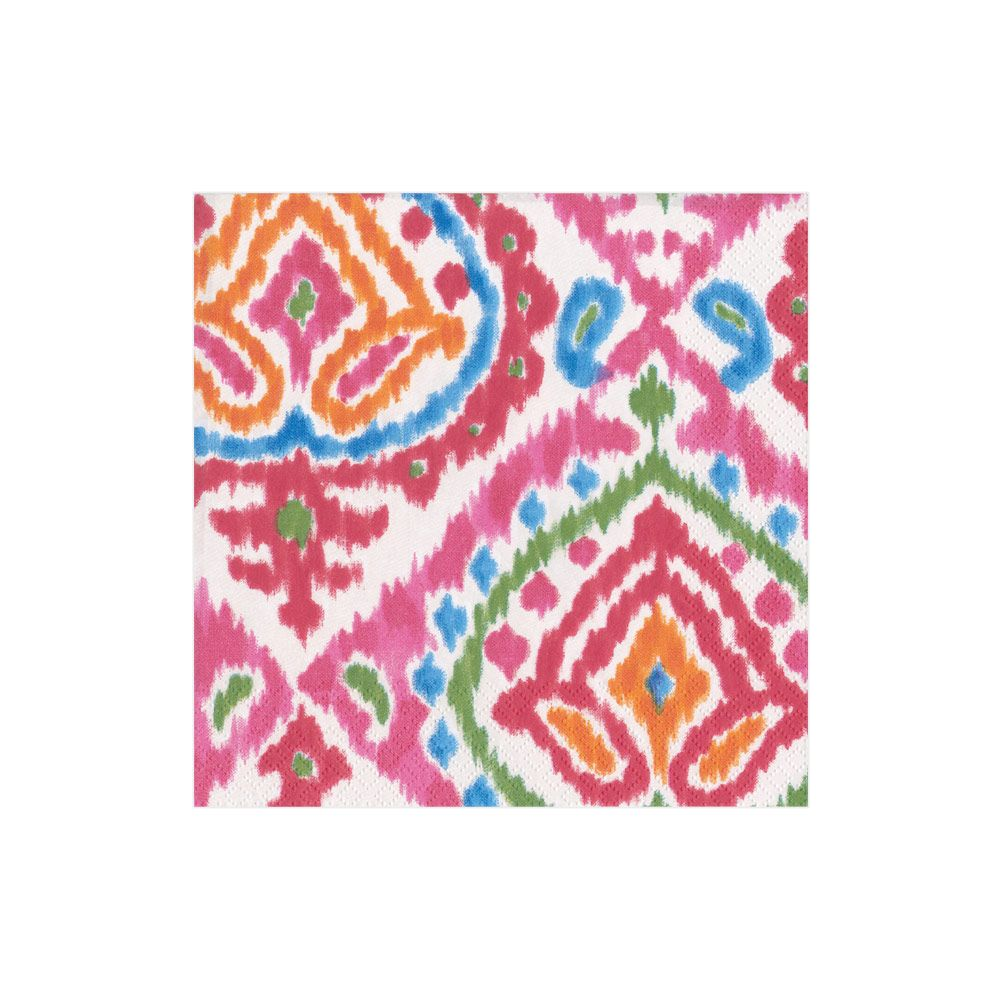 Java Ikat Boxed Cocktail Napkins