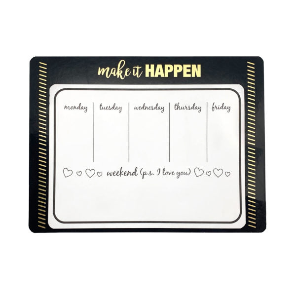 Make It Happen Magnetic Weekly Calendar