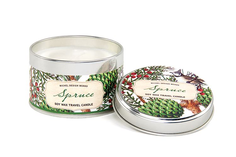 Spruce Travel Candle