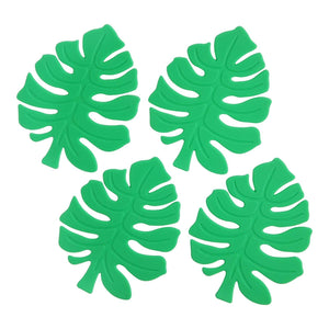 Monstera Leaf Silicone Coasters