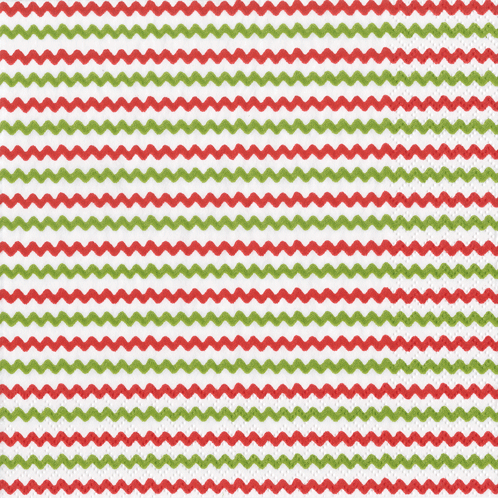 Rick Rack Red/Green Boxed Cocktail Napkins