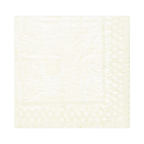 Moire Ivory Lunch Napkins