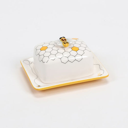 Ceramic Bee Butter Dish