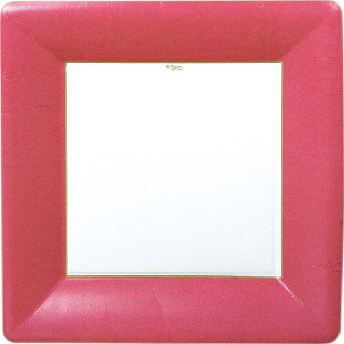 Grosgrain Red Square Plate