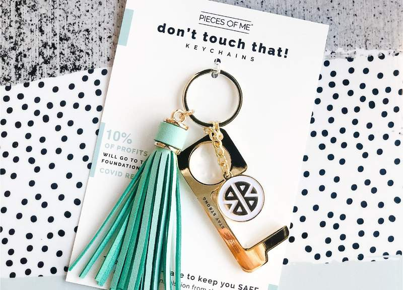 Don't Touch That! Tassel Keychain