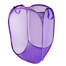 Load image into Gallery viewer, Meshed Up Collapsable Laundry Bag in Purple