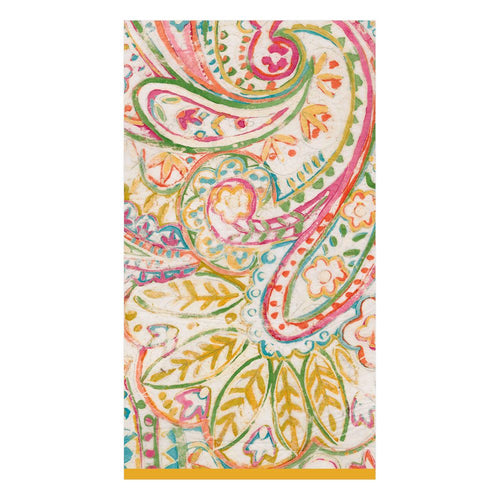 Painted Paisley Guest Towel