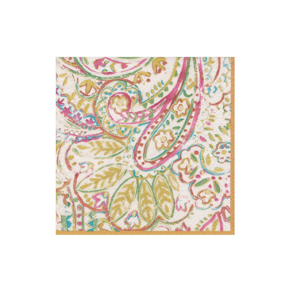 Painted Paisley Boxed Cocktail Napkins