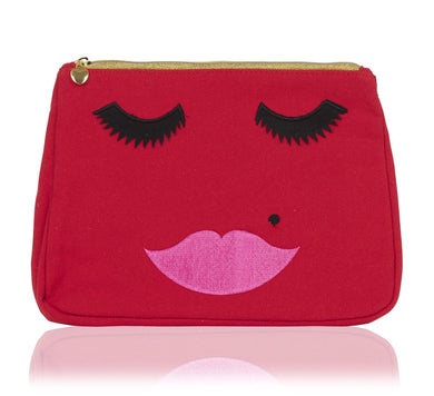 Beautiful Lady Red Make Up Bag