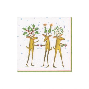 Reindeer Cheers Boxed Cocktail Napkins