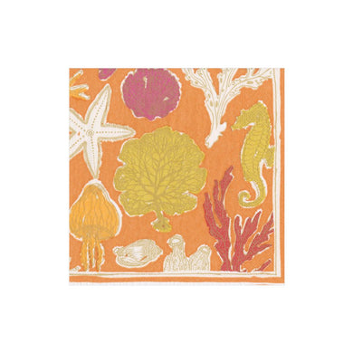 Sealife Coral Boxed Cocktail Napkins