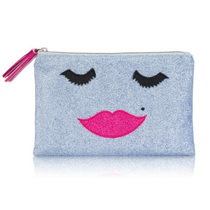 Beautiful Lady Glitter Make Up Bag