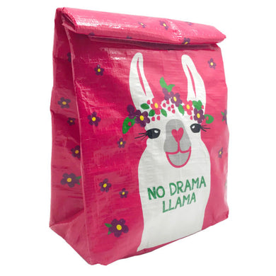 Llama Fold Over Lunch Bag