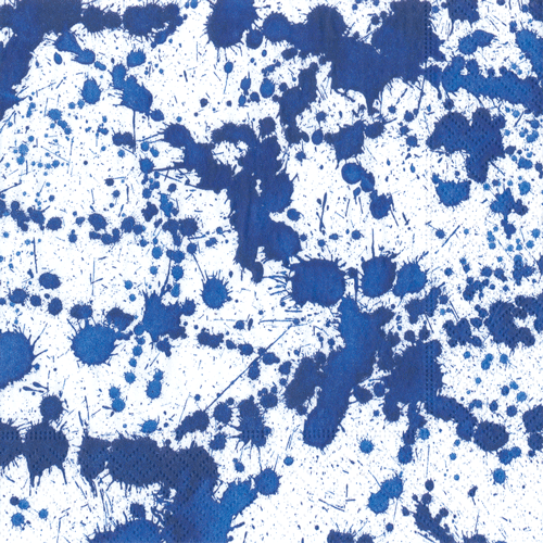 Splatterware Blue Lunch Napkins