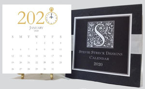 2020 Stevie Streck Calendar with Easel