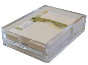 White Wine In Acrylic Boxed Lined Notes