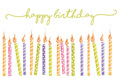 Happy Birthday with Candles Placemats