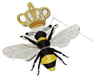Queen Bee Glittered Card with Envelope