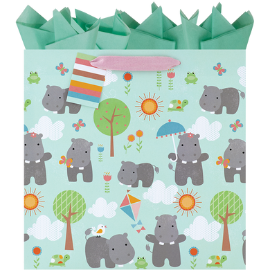 Happy Hippos Large Gift Bag