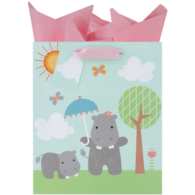 Happy Hippos Medium Gift Bag