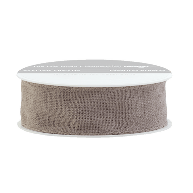 Mocha Wired Linen Ribbon