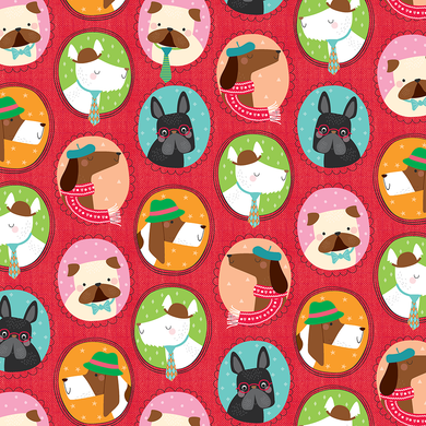Puppy Portraits Gift Wrap