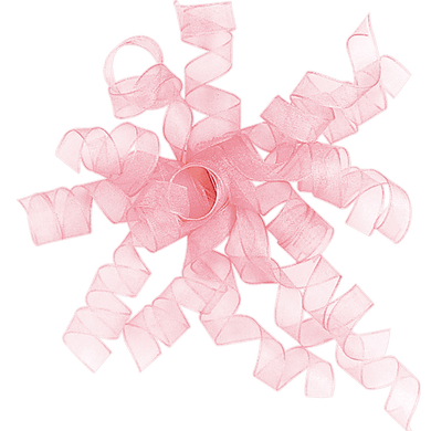 Light Pink Sheer Curly Ribbon