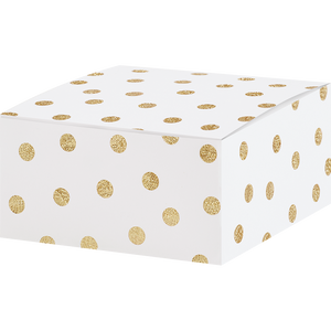 White & Gold Polka Dot Jewelry Box