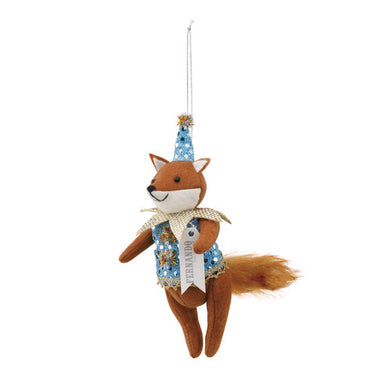 Fernando the Fox Harlequin Ornament