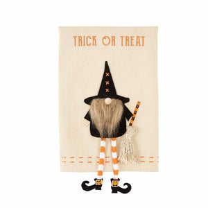 Trick Dangle Gnome Witch Towel
