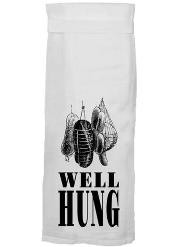 Well Hung Flour Sack Towel