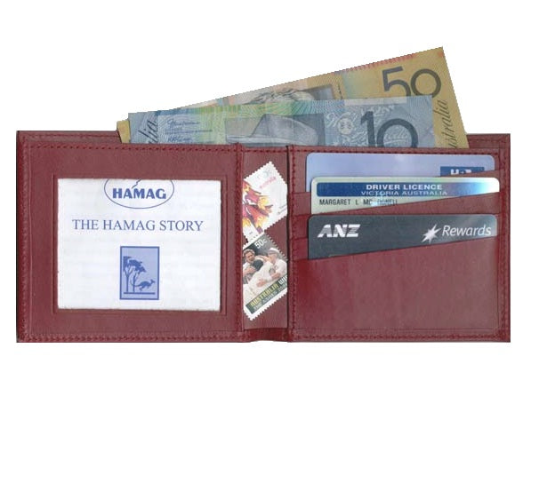 Kangaroo Leather Hip Wallet with ID Window - Colours