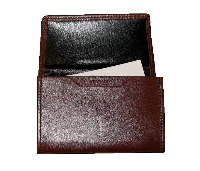Kangaroo Leather Business Card Holder - Black