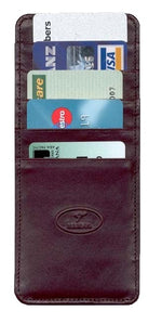 Kangaroo Leather 10 Pocket Credit Card Holder - Black