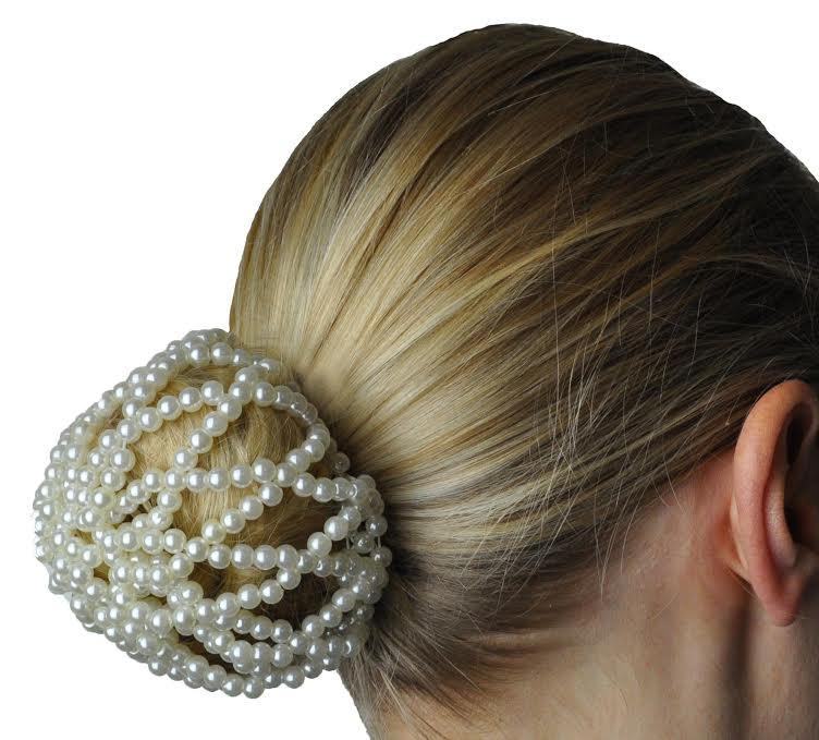 Pearl Bun Hair Net/Pony Tail Holder
