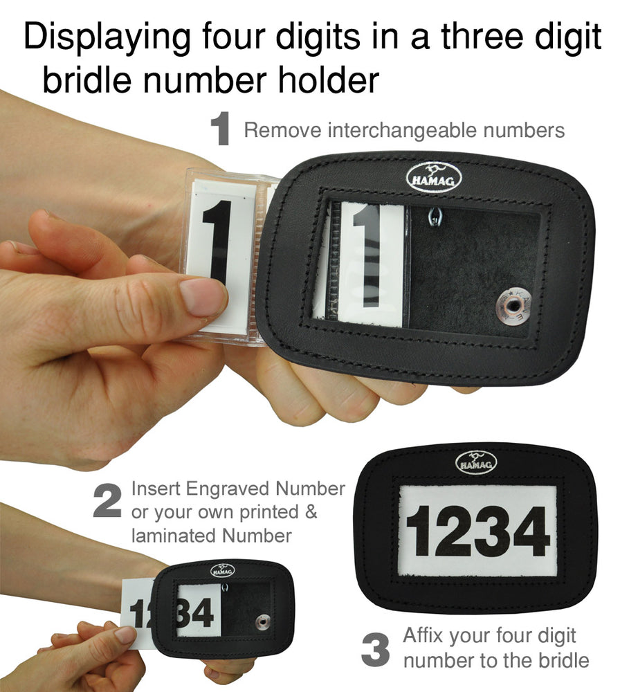 Spare Interchangeable 3 Digit Number for Leather Number Holders