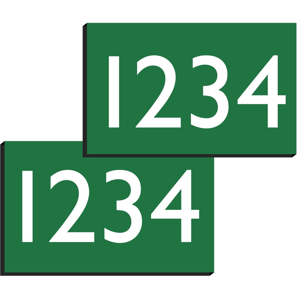 Green/Stallion Engraved Numbers for Equestrian Number Holders (Pair)