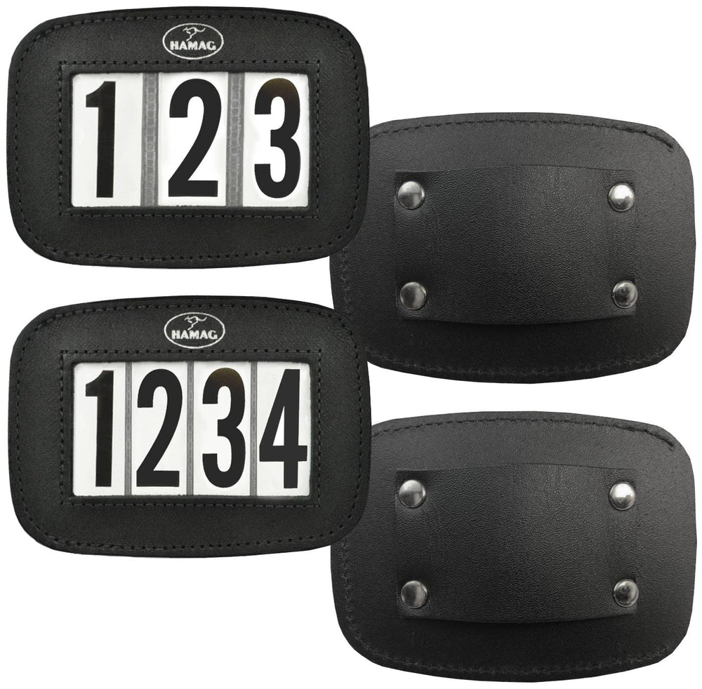 Hamag™ Leather Halter Number Holders (Pair)