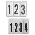 Spare Interchangeable 3 and 4 Digit Number Insert for Leather Number Holders (Pair)