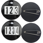 Hamag™ Patent Leather Saddle Cloth Number Holders (Pair) - Round