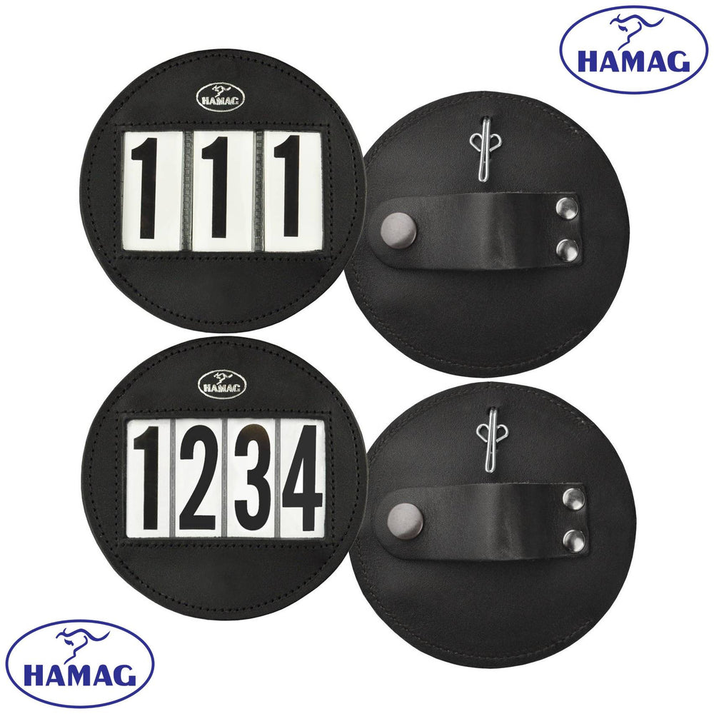 Hamag™ Leather Bridle Number Holder (Single) - Round