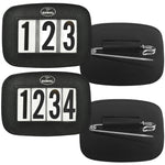 Hamag™ Leather Saddle Cloth Number Holders (Pair)
